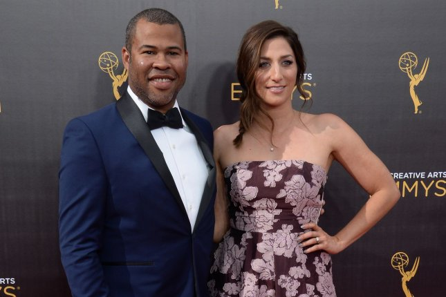 Jordan Peele and Chelsea Peretti attend the Creative Arts Emmy Awards on September 10. Peele's next film with Universal Pictures has received a 2019 release date. File Photo by Jim Ruymen/UPI