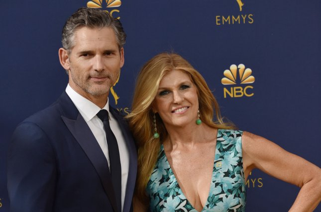 Cable network Bravo released the first trailer for upcoming true crime series Dirty John, which stars Eric Bana and Connie Britton, seen here at the Emmy Awards on Monday night. Photo by Christine Chew/UPI