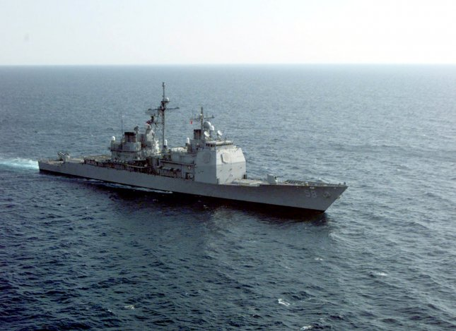 The USS Philippine Sea is one of two Navy vessels in the Middle East ordered back to port due to outbreaks of the coronavirus among their crew. Photo by Richard Rosser/UPI/U.S. Navy