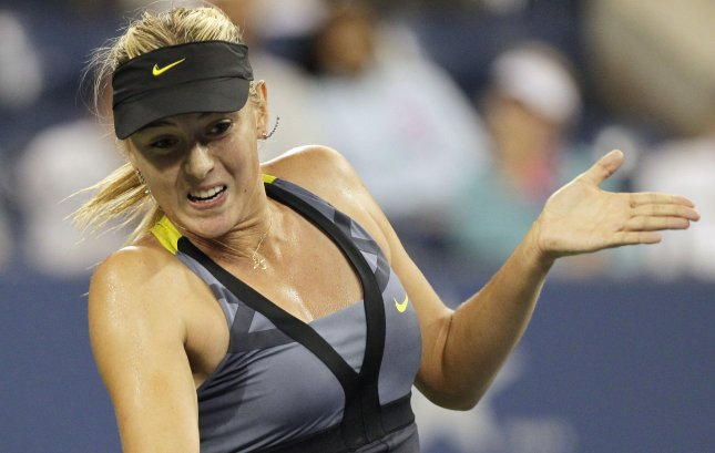 Maria Sharapova, shown during last year's U.S. Open, moves up to a No. 2 world ranking in women's tennis this week. UPI/John Angelillo