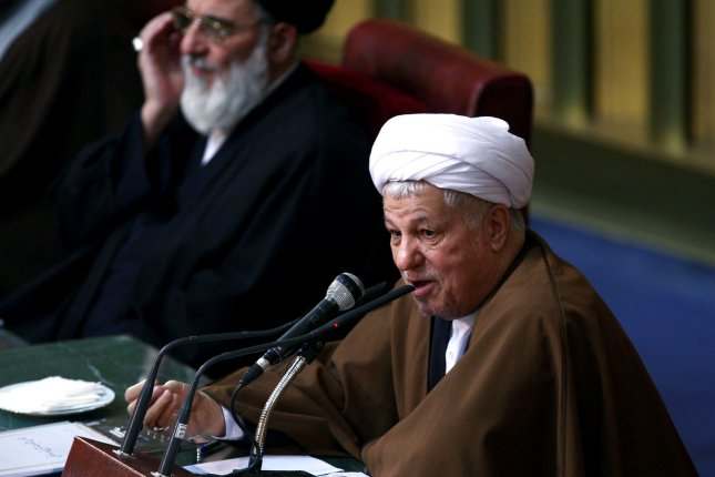 Chairman of Iran's Experts Assembly Hashemi Rafsanjani speaks during their annual session meeting on March 8, 2011, in Tehran, Iran. Rafsanjani lost his position as the head of the Experts Assembly to conservative cleric Ayatollah Mahdavi Kani. UPI