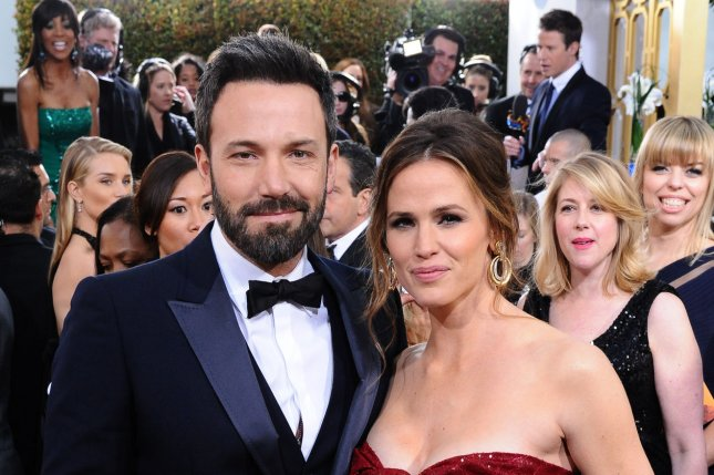 Actor and director Ben Affleck with his wife, Jennifer Garner. File Photo by Jim Ruymen/UPI