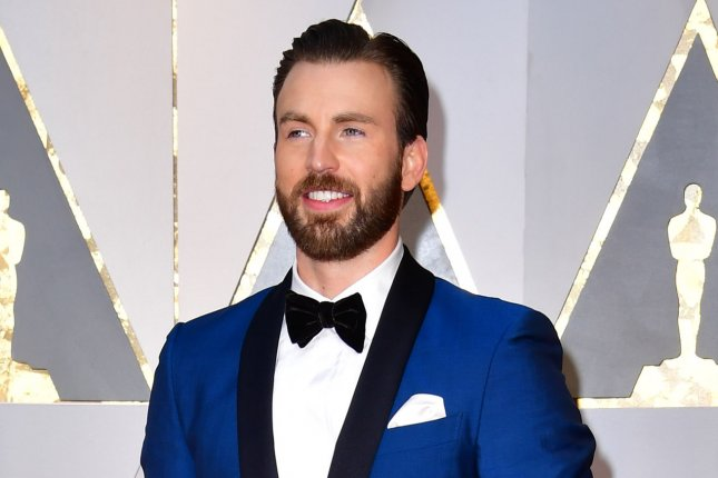 Chris Evans attends the Academy Awards on February 26. File Photo by Kevin Dietsch/UPI