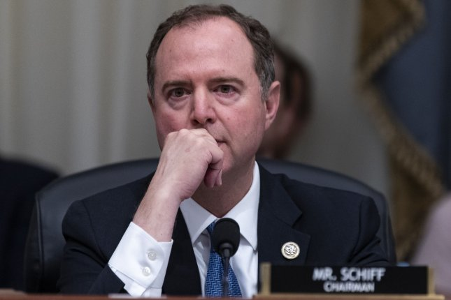 Committee Chairman Rep. Adam Schiff, D-Calif., listens during a House intelligence committee hearing on the Robert Mueller report on Wednesday. Photo by Alex Edelman/UPI