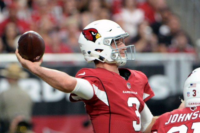 Former Arizona Cardinals quarterback Josh Rosen was traded to the Miami Dolphins for two draft picks in the off-season. File Photo by Art Foxall/UPI
