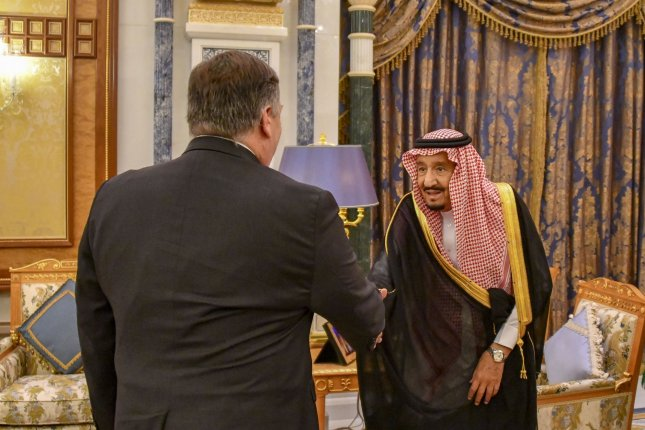 U.S. Secretary of State Mike Pompeo meets with Saudi King Salman bin Abdul-Aziz at the Royal Court in Riyadh in 2018. Two U.S. companies have received a joint contract to provide architecture or engineering services for the Saudi Missile Program. Photo courtesy of U.S. Department of State