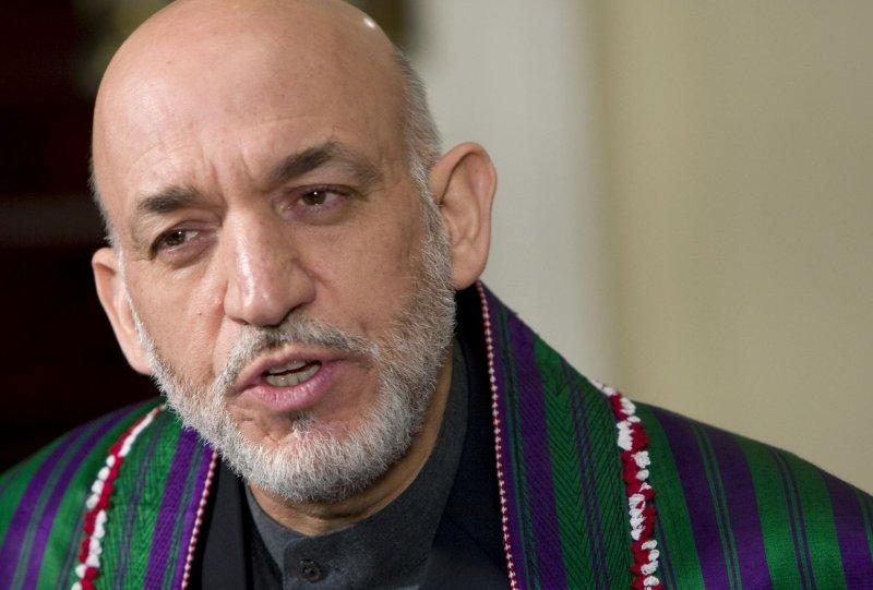 Afghan President Hamid Karzai (UPI Photo/Kristoffer Tripplaar/Pool)