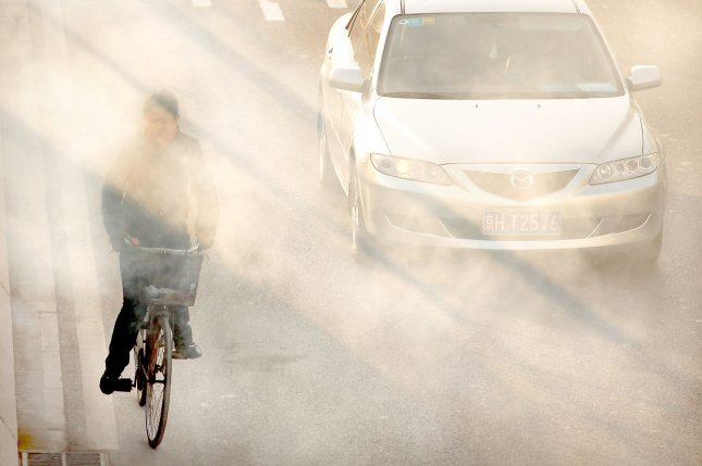 Researchers have linked nanoparticles in air pollution to increased risk for brain cancers. File Photo by Stephen Shaver/UPI