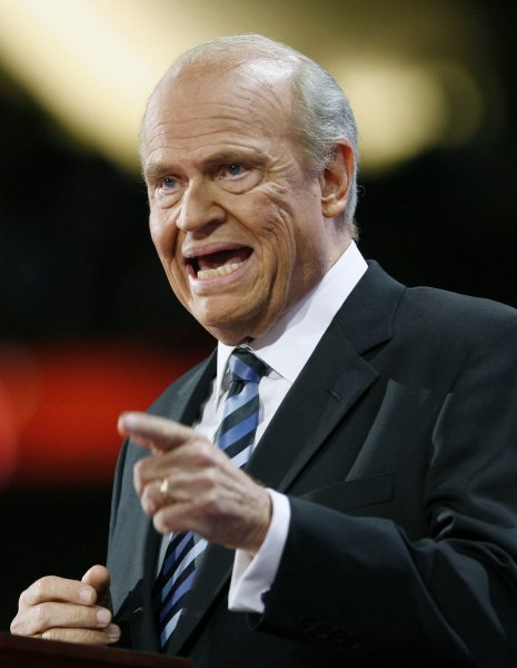 Former Republican Presidential candidate Sen. Fred Thompson (R-TN) speaks on the second day of the Republican National Convention at the Xcel Energy Center in St. Paul, Minnesota on September 2, 2008. (UPI Photo/Brian Kersey)