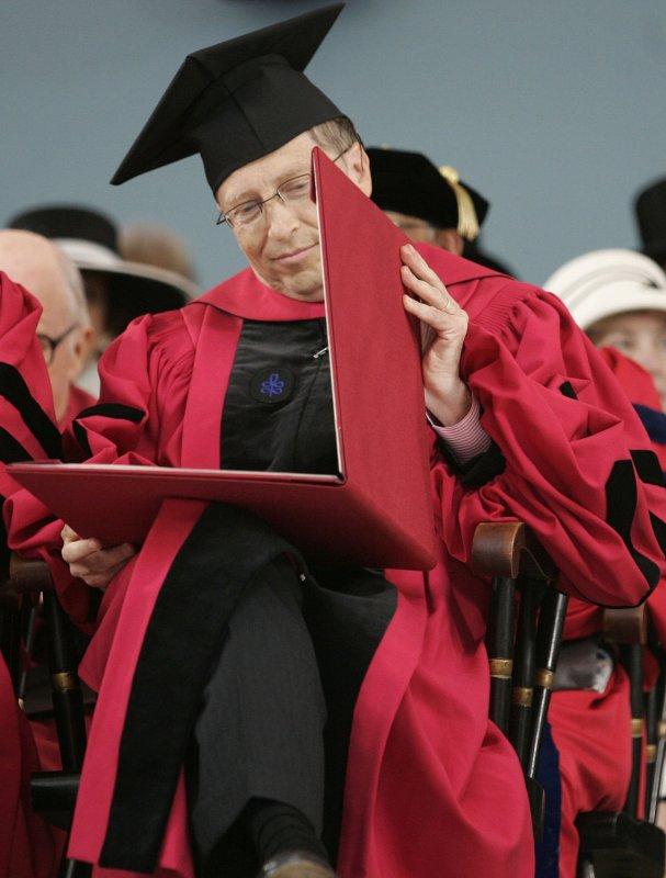 Bill Gates at Harvard University in 2007. (UPI Photo/Matthew Healey/FILES)
