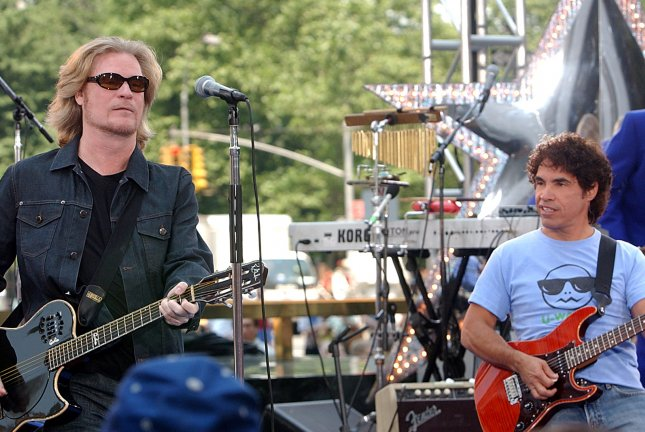 Hall and Oates perform on June 24, 2003 on the WCBS TV Early Morning Show summer concert series in New York. The band has been nominated to the Rock and Roll Hall of Fame. rlw/ep/Ezio Petersen UPI