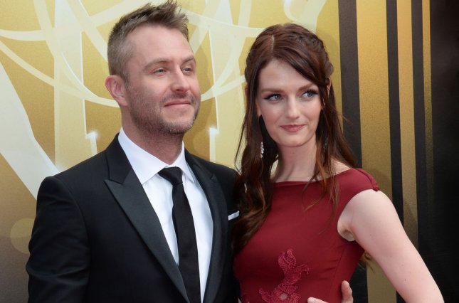 Chris Hardwick and Lydia Hearst attend the Creative Arts Emmy Awards at Microsoft Theater in Los Angeles on Sept. 12, 2015. Photo by Jim Ruymen/UPI