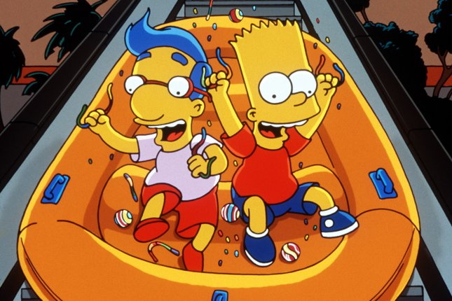 Bart Simpson and best friend Milhouse cause some havoc. File Photo by Fox TV/UPI