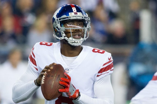 Former New York Giants backup quarterback Josh Johnson has signed with the Washington Redskins. Photo by Matthew Healey/ UPI