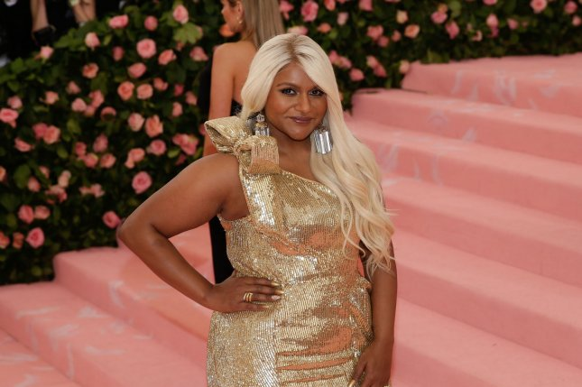 Mindy Kaling arrives on the red carpet at The Metropolitan Museum of Art's Costume Institute Benefit Camp: Notes on Fashion on May 6. The actor turns 40 on June 24. File Photo by John Angelillo/UPI