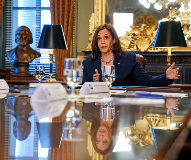 Vice President Kamala Harris will deliver the keynote address for the first AAPI Unity Summit, From Victory to Unity, on Wednesday. File Photo by Jemal Countess/UPI