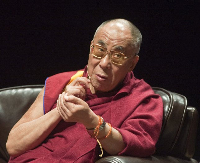 The Dalai Lama arrives for the afternoon panel discussion at the 2009 Vancouver Peace Summit at the University of British Columbia's Chan Centre in Vancouver, British Columbia, September 27, 2009. UPI /Heinz Ruckemann
