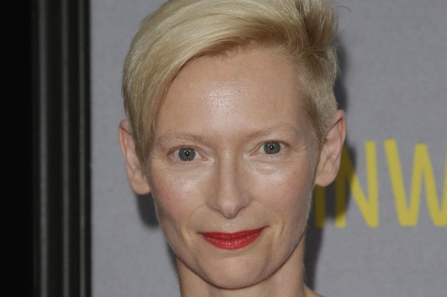 Tilda Swinton arrives on the red carpet at the New York premiere of Trainwreck in New York City on July 14, 2015. File photo by John Angelillo/UPI