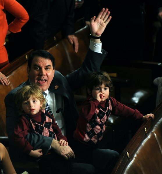 The former wife of Congressman Alan Grayson, D-FL, called police multiple times and got medical help for alleged abuse during the couple's rocky 25-year marriage, according to reports obtained by Politico. The congressman, pictured here in 2009 with his children, denied the allegations. He is currently running for the U.S. Senate. Photo by UPI Photo/Roger L. Wollenberg