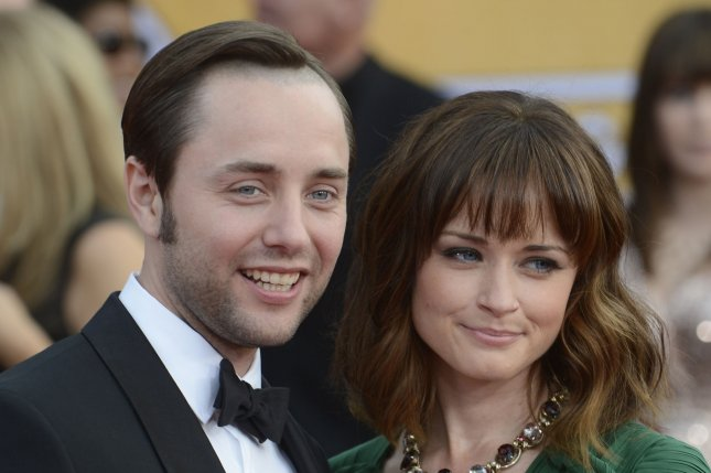 Alexis Bledel (R) and Vincent Kartheiser at the Screen Actors Guild Awards on January 27, 2013. File Photo by Phil McCarten/UPI