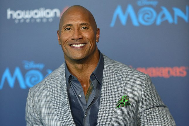 Dwayne Johnson arrives at the world premiere of Moana in Los Angeles on November 14, 2016. Johnson will soon be seen in the action comedy film Baywatch. File Photo by Christine Chew/UPI