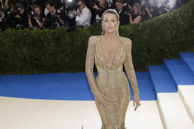Blake Lively arrives on the red carpet at the Costume Institute Benefit at The Metropolitan Museum of Art in New York City on May 1. Lively is set to star in The Husband's Secret. Photo by John Angelillo/UPI