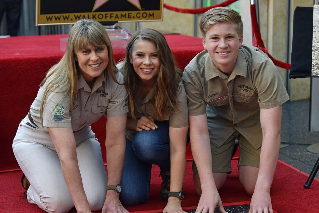 From left to right, Steve Irwin's wife Terri Irwin, their daughter Bindi Irwin and son Robert Irwin at the crocodile hunter's star on the Hollywood Walk of Fame. Photo by Chris Chew/UPI