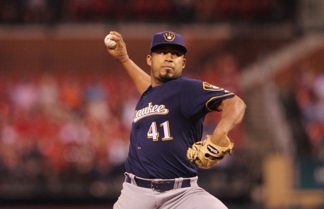 Junior Guerra and the Milwaukee Brewers take on the Minnesota Twins on Tuesday. Photo by Bill Greenblatt/UPI
