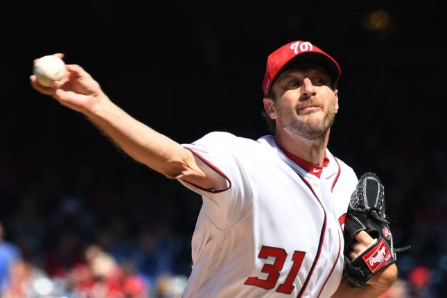 371c4d55 Washington Nationals Max Scherzer is 5-5 with a 2.81 ERA in 15 starts this  season for the Nationals. He has recorded 136 strikeouts in those 15 games,  ...