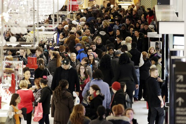 GDP numbers are encouraging after the last quarter of 2013 was hit with wintery weather that dampened the shopping season and affected consumer spending. UPI/John Angelillo