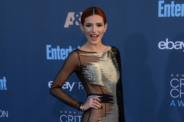 Actress Bella Thorne addressed her short-lived fling with Scott Disick in a new interview with Complex. File Photo by Jim Ruymen/UPI