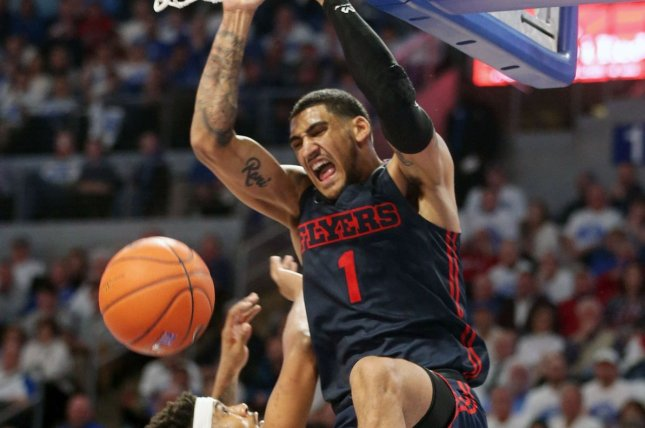 Dayton Flyers forward Obi Toppin also won the Naismith Trophy last week. File Photo by Bill Greenblatt/UPI