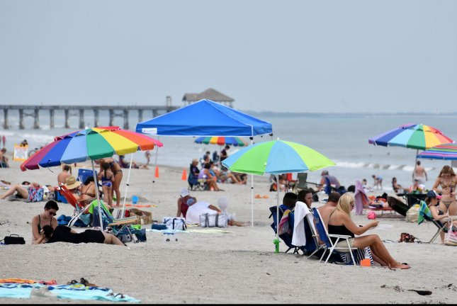 Some beaches in Florida, including this one near Cocoa Beach, reopened on Sunday and more are expected to reopen in the coming days and weeks. Photo by Joe Marino/UPI