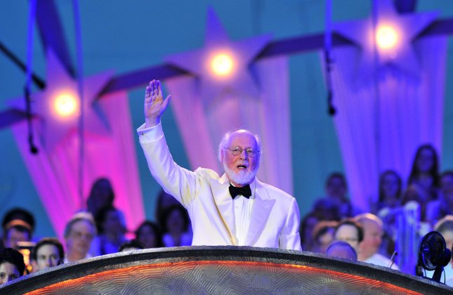 John Williams leads the National Sympathy Orchestra during a rehearsal for A Capitol Fourth concert on the National Mall in Washington, July 3, 2012. UPI/Kevin Dietsch