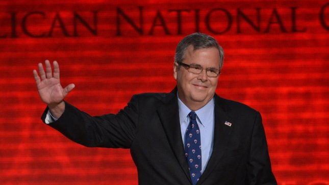 Former Florida Governor Jeb Bush speaks at the 2012 Republican National Convention at the Tampa Bay Times Forum in Tampa on August 30, 2012. UPI/Kevin Dietsch