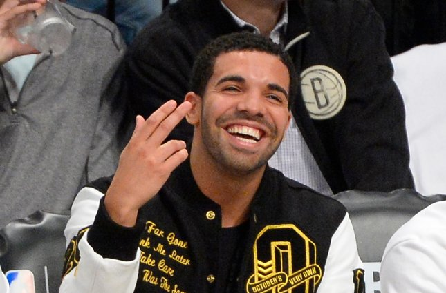 Drake at the NBA Eastern Conference Quarterfinals in New York on May 2, 2014. File photo by Rich Kane/UPI