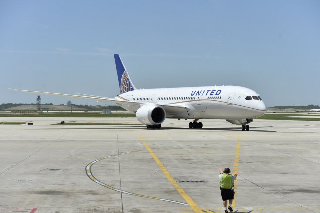 United Airlines Flight 1614, traveling from Houston to San francisco, was diverted to Albuquerque, N.M., Tuesday after its co-pilot lost consciousness. File photo by Brian Kersey/UPI