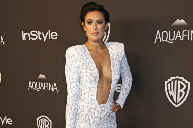 Rumer Willis attending the 17th annual InStyle and Warner Bros. Golden Globe after-party on January 10, 2016. Willis has taken to social media to slam a photographer for Photoshopping her jaw line. File Photo by David Silpa/UPI