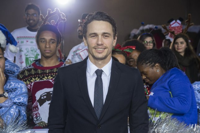 Cast member James Franco attends the premiere of the film The Night Before on November 18, 2015. The actor will soon be seen in the HBO series The Deuce. File Photo by Phil McCarten/UPI