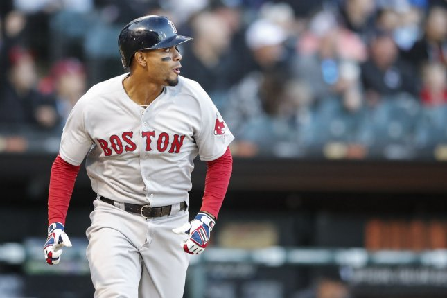 Boston Red Sox shortstop Xander Bogaerts is now hitting .315 with 23 home runs and 80 RBIs this season. Photo by Kamil Krzaczynski/UPI