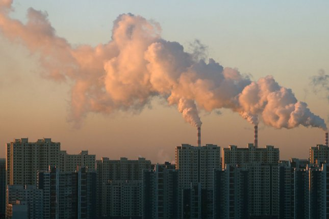 Aerosol emissions from sources such as this coal-fired power plant in China have been linked to millions of deaths, researchers say, but cutting aerosol emissions could prevents at least some of them. File Photo by Stephen Shaver/UPI.