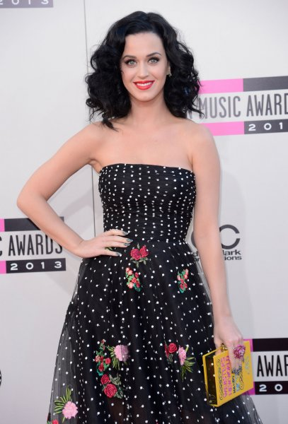 Recording artist Katy Perry arrives for the 41st annual American Music Awards held at Nokia Theatre L.A. Live in Los Angeles on November 24, 2013. UPI/Phil McCarten