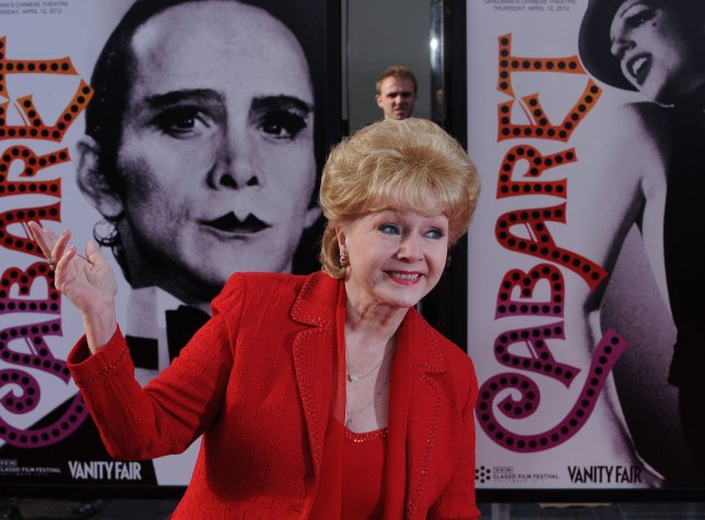 Actress Debbie Reynolds attends TCM Classic Film Festival opening night premiere of the 40th anniversary restoration of the motion picture musical drama Cabaret, at Grauman's Chinese Theatre in the Hollywood section of Los Angeles on April 12, 2012. UPI/Jim Ruymen