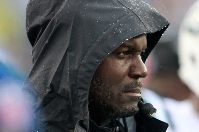 New York Jets head coach Todd Bowles walks the sideline in the second quarter against the New England Patriots at Gillette Stadium in Foxborough, Massachusetts on December 24, 2016. The Patriots defeated the Jets 41-3. Photo by Matthew Healey/ UPI