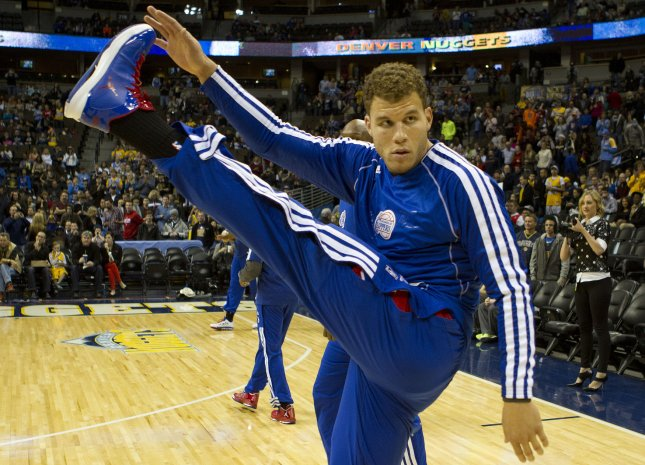 Blake Griffin scored 30 points in three quarters, and the Clippers beat the Knicks for the 10th consecutive time with a 114-105 victory at Staples Center. File Photo by Gary C. Caskey/UPI