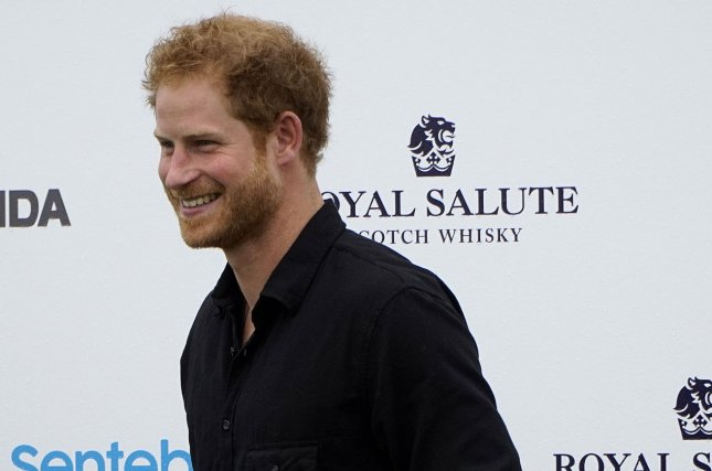 Britain's Prince Harry arrives at the 2016 Sentebale Royal Salute Polo Cup at the Valiant Polo Farm in Palm Beach, Fla., on May 4, 2016. The prince turns 33 on September 15. File Photo by Gary I Rothstein/UPI