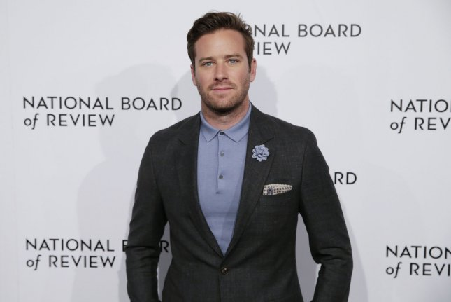 Armie Hammer has been announced as a presenter at the Oscars, along with Gal Gadot, Mark Hamill and Gina Rodriguez. File Photo by John Angelillo/UPI