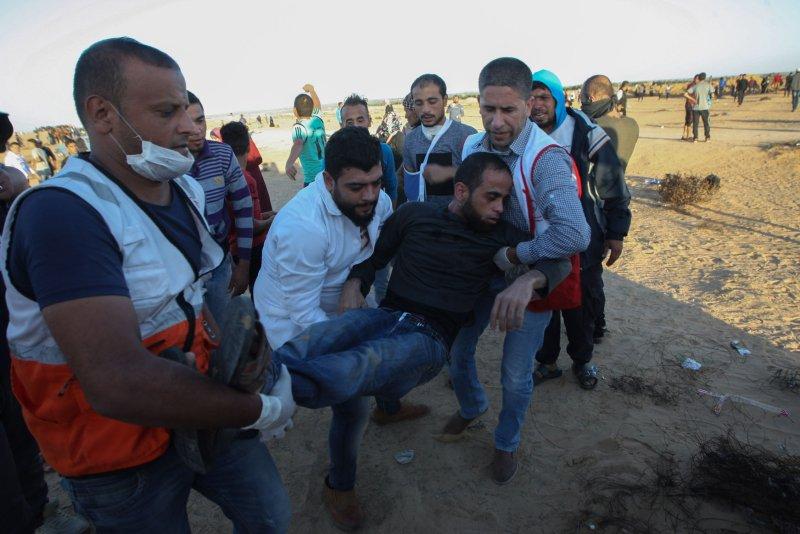 Dozens of Palestinians injured in Gaza protests