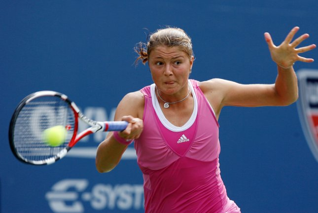 Dinara Safina, shown during the 2008 U.S. Open, has moved to No. 3 in the world in the latest women 's tennis rankings. (UPI Photo/John Angelillo)