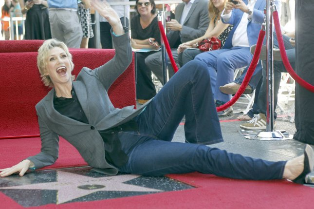 Actress Jane Lynch. UPI/Alex Gallardo